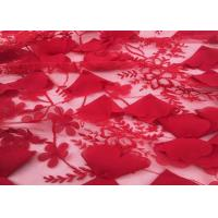 "Buy cheap Red Embroidery Wedding Lace Fabric 3d Flower 50-51"" Width For Home Textile product"