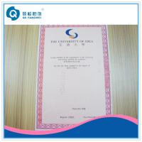 Buy cheap Glossy Certificate Printing Service product