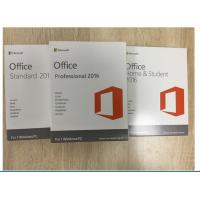 Quality 32 / 64 Bit MS Office Professional 2016 Product Key With Original Key Card for sale