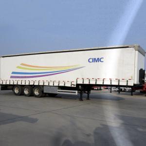 Soft Side12m 40Ton Tri Axle Tarp CIMC Curtain Van Trailer