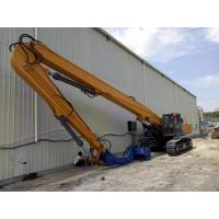 Buy cheap Yellow Color Sheet Pile Driving Machine , Excavator Mounted Sheet Pile Driver product