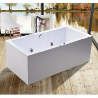 Buy cheap 1600mm Indoor Contemporary White Soaking Freestanding Bath Tub / Indoor Jacuzzi Hot Tubs product
