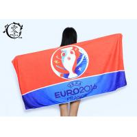 Buy cheap Microfiber Size 30'' x 60'' Europe Cup Logo Beach Towel , Fast Drying Super Absorbent Gym Towel product