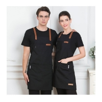 Buy cheap Black Blue Green China Manufacture Durable Cotton Kitchen Apron for Cooking Chef 7-Eleven Aprons with Customized Logo product