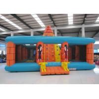 China Outdoor Amusment Park Inflatable Rock Climbing Wall 8 X 8m 0.55mm Pvc Tarpaulin on sale