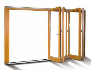 Buy cheap KLUK Aluminium Bifold Doors Laminated Glass Wood Grain For Patio product