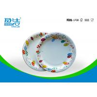 6 Inch Diameter Disposable Paper Plates Printed By Flexo Water Based Ink for sale