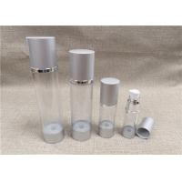 Buy cheap Various Size Airless Acrylic Lotion Bottle Transparent Bottle Body Silver Cap product