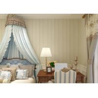 China Vinyl Luxury Contemporary Striped Wallpaper , Washable Bedroom Striped Wallpaper on sale