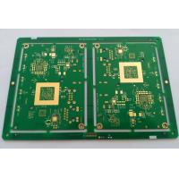 Buy cheap 10 layers HDI FR-4 PCB Circuit board with ENIG green soldmask white silkscreen min drill hole 0.1mm product