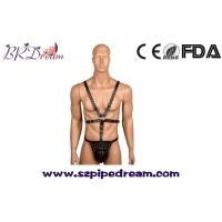 Buy cheap Male bondage harness chastity belt pants sexy lingerie slave costume cosplay clothes leather restraints from wholesalers