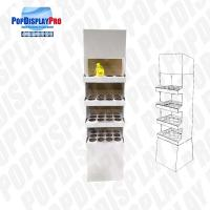 Buy cheap 4 Shelf 1 Poster Cardboard Floor Display Stand , Floor Display Racks With Dividers product
