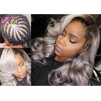 "China Body Wave Virgin Brazilian Ombre Grey Hair Weft Can Be Curled Well 12"" - 26"" wholesale"