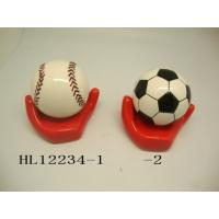 Buy cheap Football And Baseball Ceramic Money Box Bank With Base 10 X 10  X 12 Cm product