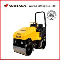 China new1.7 ton driving double wheel road roller, vibratory road roller with wooden case for sale wholesale