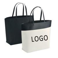 Buy cheap Customized Logo Printed Gift Bag Bucket Shape Paper Bag With Plastic Handle 250x270x100mm product