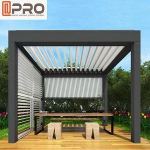 Buy cheap Electric Patio Folding Louver Roof Modern Aluminum Pergola product