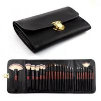 Buy cheap Double Bags 26 Cosmetic Makeup Brush Set Animal Hair Wood Handle Material product