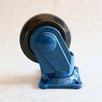 China 5 Rubber Caster Wheels Mounting Bracket Plastic / Rubber Wheel For Trolley on sale