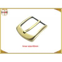 Buy cheap 40mm Gold Custom Zinc Alloy Metal Pin Belt Buckle / Coat Belt Buckle Replacement product