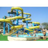 Buy cheap Swimming Pool Spiral Water Slide / Splash Water Slide 15 - 20 M Platform Height product