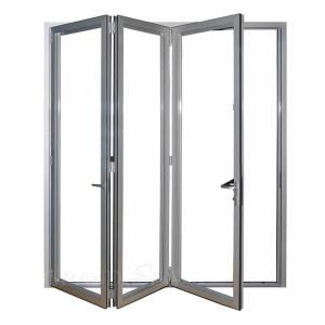 Buy cheap 1.5-2.0mm Narrow Edge Aluminum Folding Windows Two Track Clear Tempered Glazed product