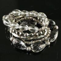 Buy cheap Handwork Bracelets, Nice Design, Made of Plastic, Decorated with CCB, Various Colors are Available product