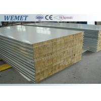 Old type rock wool fire proof insulated wall panel with metal joint 950mm/1150mm