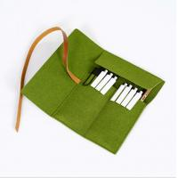 Buy cheap Felt Pencil Organizer Pouch/Zipper Pouch Grass Green Durable For Students product