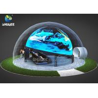 Buy cheap Dome Special Buildings 3D Movie Cinema Curved Screen Immersive Cinema With 4D Motion Seats product
