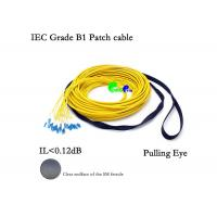 China Pre Terminated Fiber Optic Patch Cables 24F SM 9 / 125 LC - LC With Pulling Eye / Pulling Hook on sale