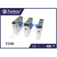 Buy cheap Bi - Directional Flap Barrier Turnstile 35 Persons / Min Transit Speed product