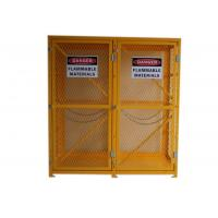 Expanded Metal Oxygen Cylinder Storage Cages , Twin Door Gas