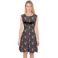 Buy cheap Sleeveless Womens Casual Summer Dresses A Line Midi Dress Music Notes Printing product