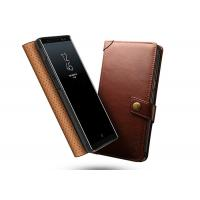 China Thin Samsung Galaxy Note 8 Wallet Case Brown / Book Style Leather Cover on sale