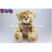 Buy cheap 100%Polyester Tie-dyed Material Stuffed Teddy Bears With Check Ribbon product