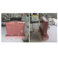 Buy cheap Red Polished Sketch Granite Memorial Headstones 37.6Mpa Bending Strength product
