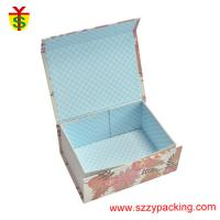 China Flower Fabric Magnet Paper Boxes Foldable Use For Children's Gift And Packaging Coloful on sale