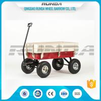 Buy cheap Light Duty Garden Mesh Cart 21kg , Red Color Steel Garden Wagon10inches Wheel product