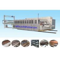 China High Speed Flexo Printer Slotter Die Cutter Stacker Vacuum Transmission Ir Uv Drying on sale