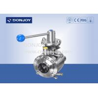 China 4 Manul mixing proof stainless butterfly valve , industrial ss butterfly valve on sale