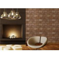 Buy cheap 3D Brick Printing Natural Style Modern Removable Wallpaper , 0.53*10M PVC Material product