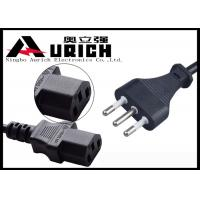 Buy cheap 1.2m Black Italy Computer Monitor Power Cord With IEC 320 C13 Imq Approved product