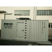 Buy cheap 6058 * 2438 * 3151mm Three Phase Diesel Generator 500KW With Observation Window product