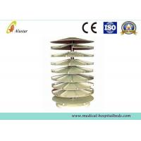 Buy cheap 920*1800mm Stainless Steel Hospital Bedside Cabinet Rotary Medicine Shelf With Rubber product