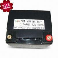 Buy cheap Green Energy Lifepo4 Starter Battery For Electric Toy 12 Volt 40ah product