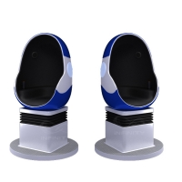 Buy cheap 10 Square Meters Single Seat 9D VR Egg Chair with DPVR E3 2K Glasses product