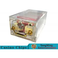 Buy cheap Acrylic Casino Card Shoe 8 Deck Large Capacity With Bright Metal Lock product