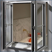 Buy cheap Double Glazed Aluminum Frame Tempered Glass Swing Window product