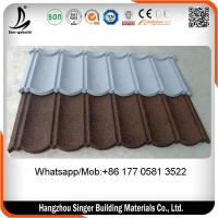 China Color steel roof tiles , factory directly selling stone chips steel roofing tiles Philippines on sale